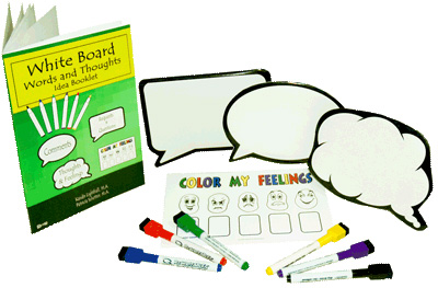 White Board Words and Thoughts Activity Pack